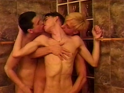 Cute Twinks Hot Threesome lovemaking